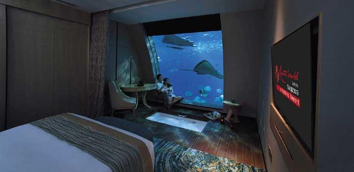 Zimmeransicht - Unterwasserhotels