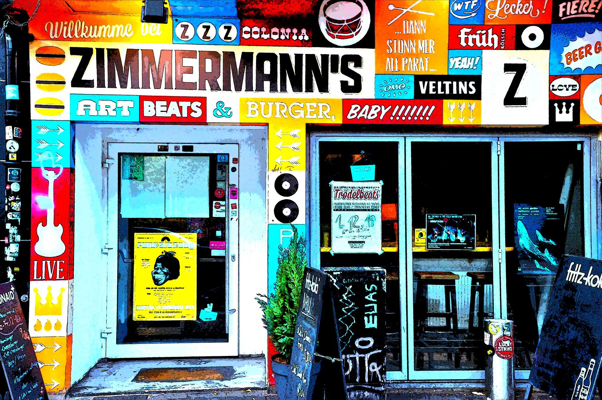 Außenansicht Zimmermanns Burger Köln