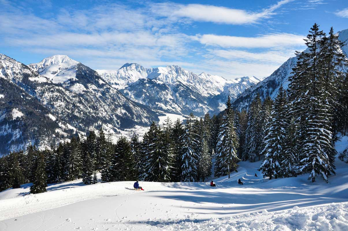 Rodeln im Allgäu - Genuss- und Reisetipps