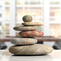 Zen Steine im Büro