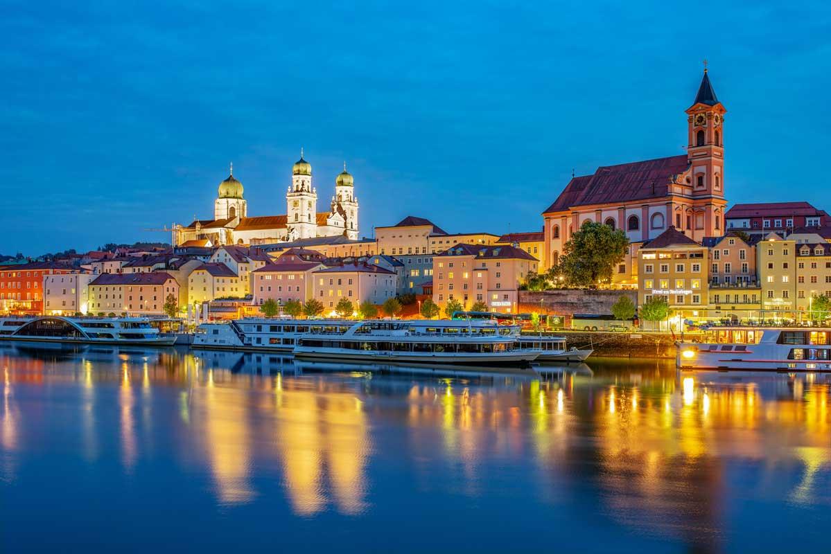 Passau - Goldsteig - Donau-Radweg - Tauernradweg