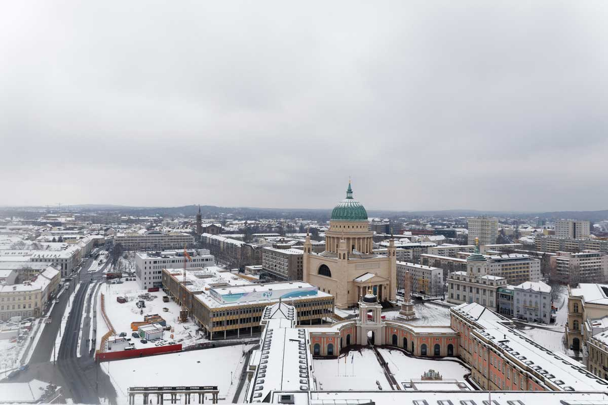 Blick auf Potsdam im Winter