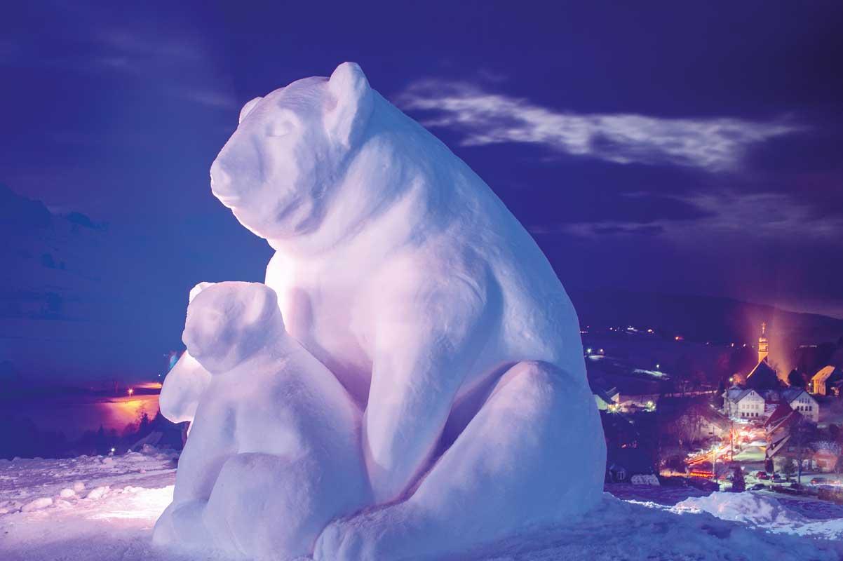 Schneeskulpturenfestival Bernau - Genuss- und Reisetipps