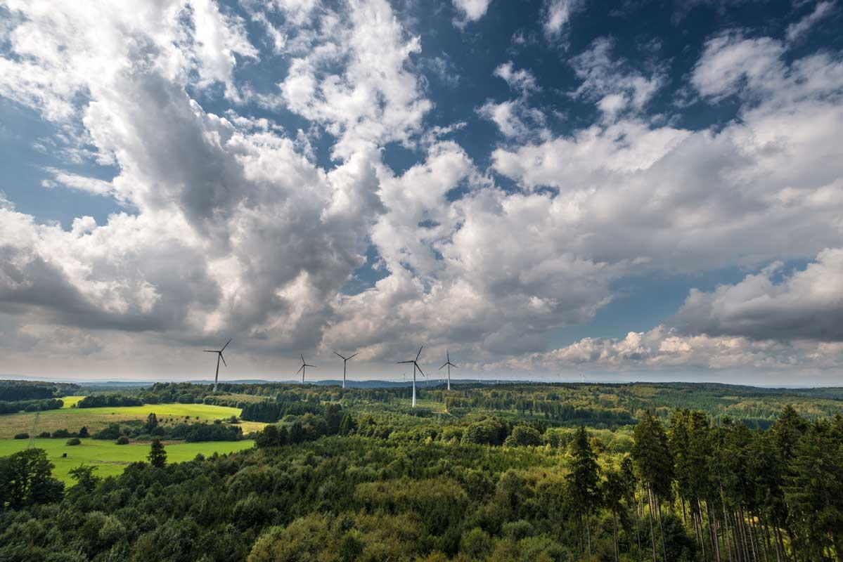 Blick vom Aussichtsturm auf dem Gräbersberg - Westerwald-Steig