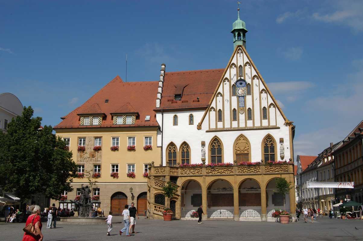 Rathaus in Amberg - Erzweg