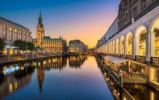 Hamburg, Rathaus - Radfernweg Hamburg-Bremen - Hamburg kostenlos