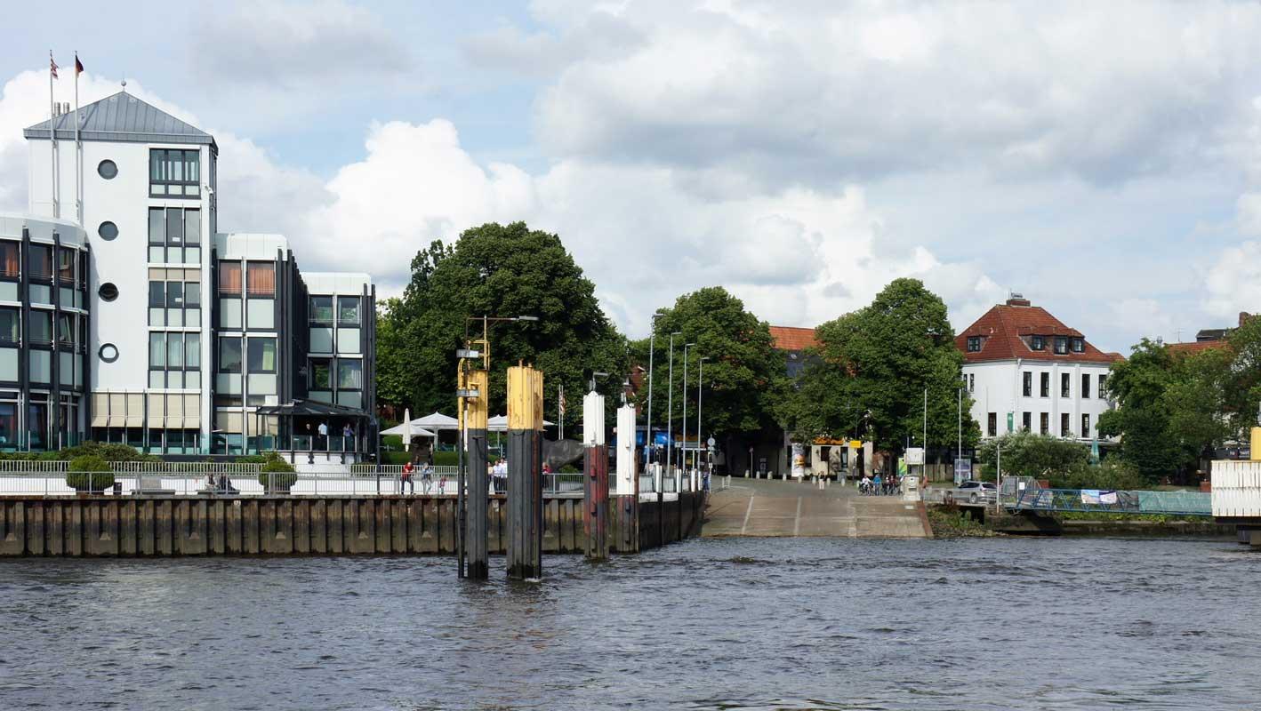 Fähranleger in Bremen-Vegesack - Wümme-Radweg