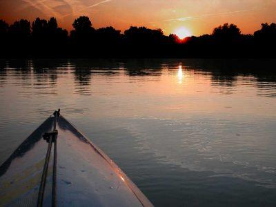 Sonnenuntergang auf der Wümme - Wümme-Radweg