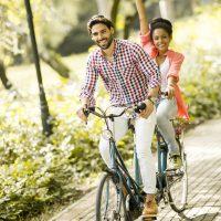 fahrrad tour paar