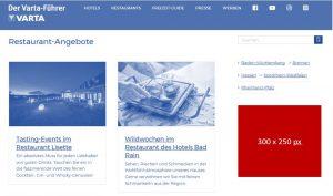 Bannerwerbung im Varta-Führer online