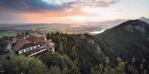 Luftbild Burghotel Falkenstein, Pfronten im Allgäu