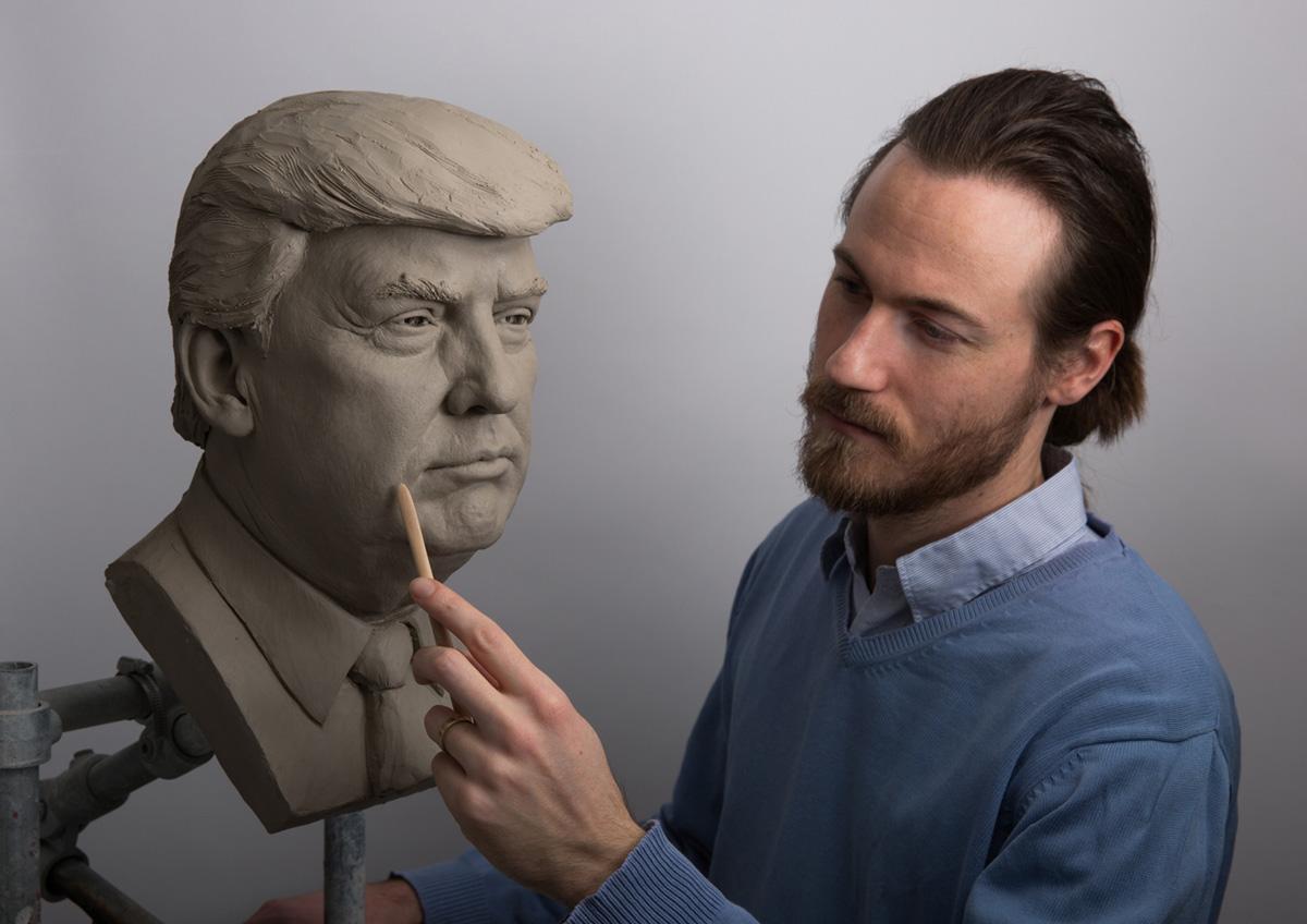 Wachsfigur Trump Panoptikum