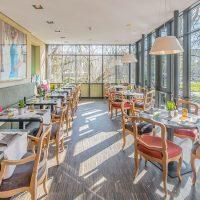 Wintergartn in der Rive Gauche Brasserie in Baden-Baden