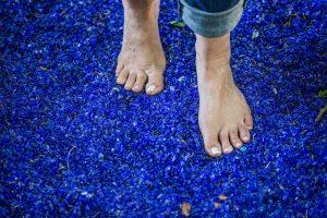 Fußglas im Barfußpark - Ausflugsziele für die ganze Familie