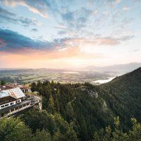 Das Burghotel Falkenstein-Luftaufnahme