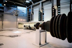 Blick in die Energiehalle - DASA Arbeitswelt Ausstellung