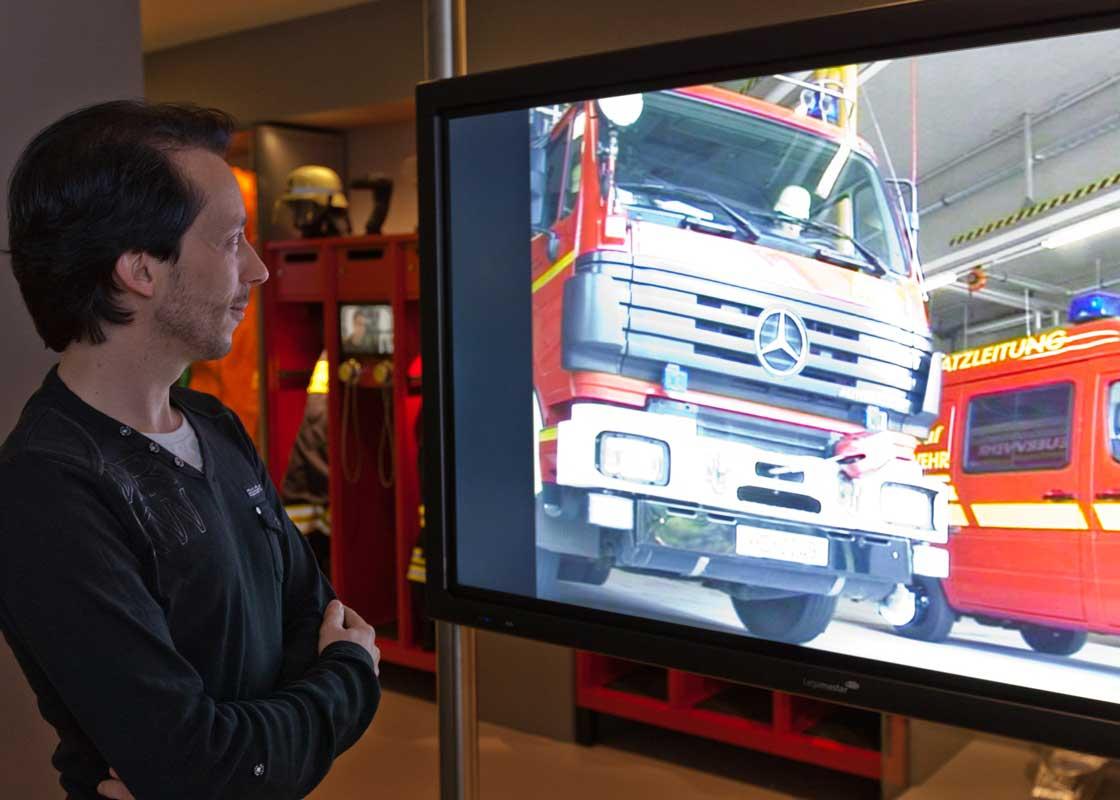 Ausstellungseinheit zur Feuerwehr - DASA Arbeitswelt Ausstellung