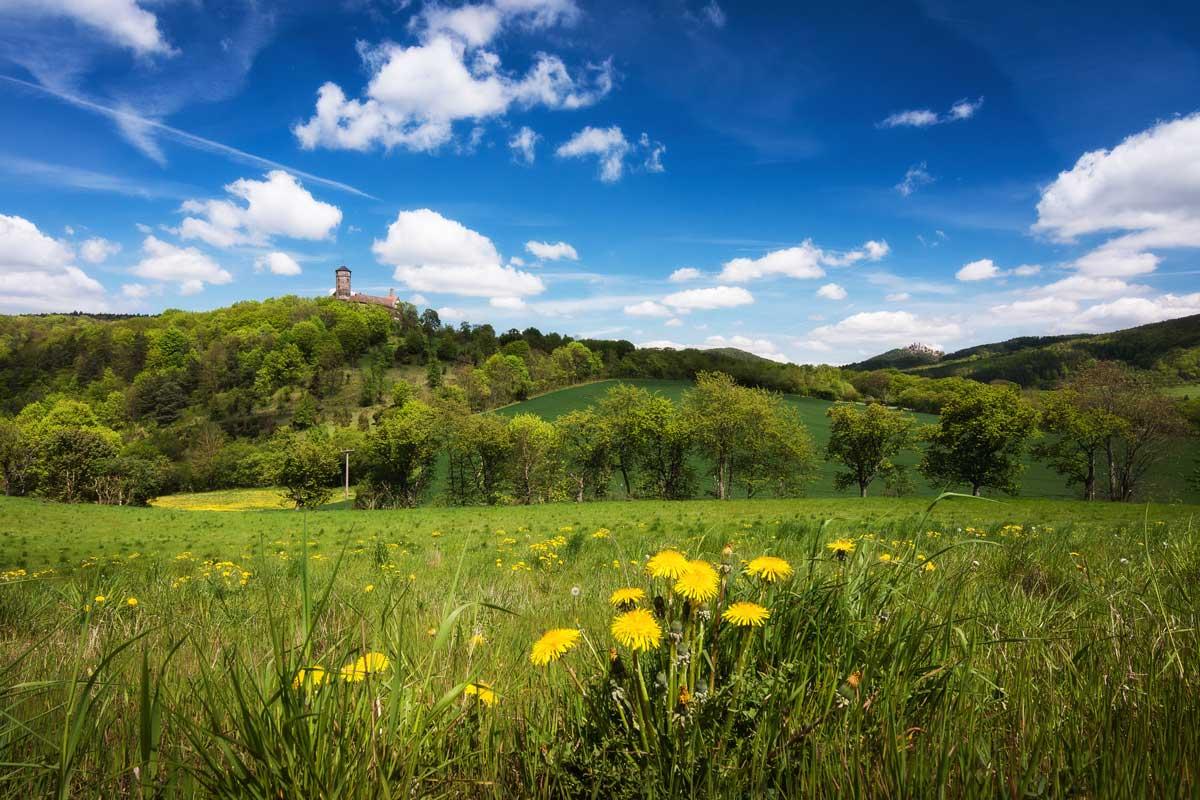 Zweiburgenblick im Eichsfeld - Eichsfeldwanderweg