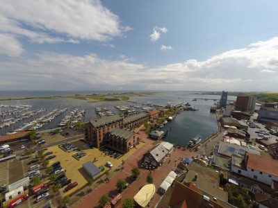 Luftbild Hafenhotel Meereszeiten in Heiligenhafen
