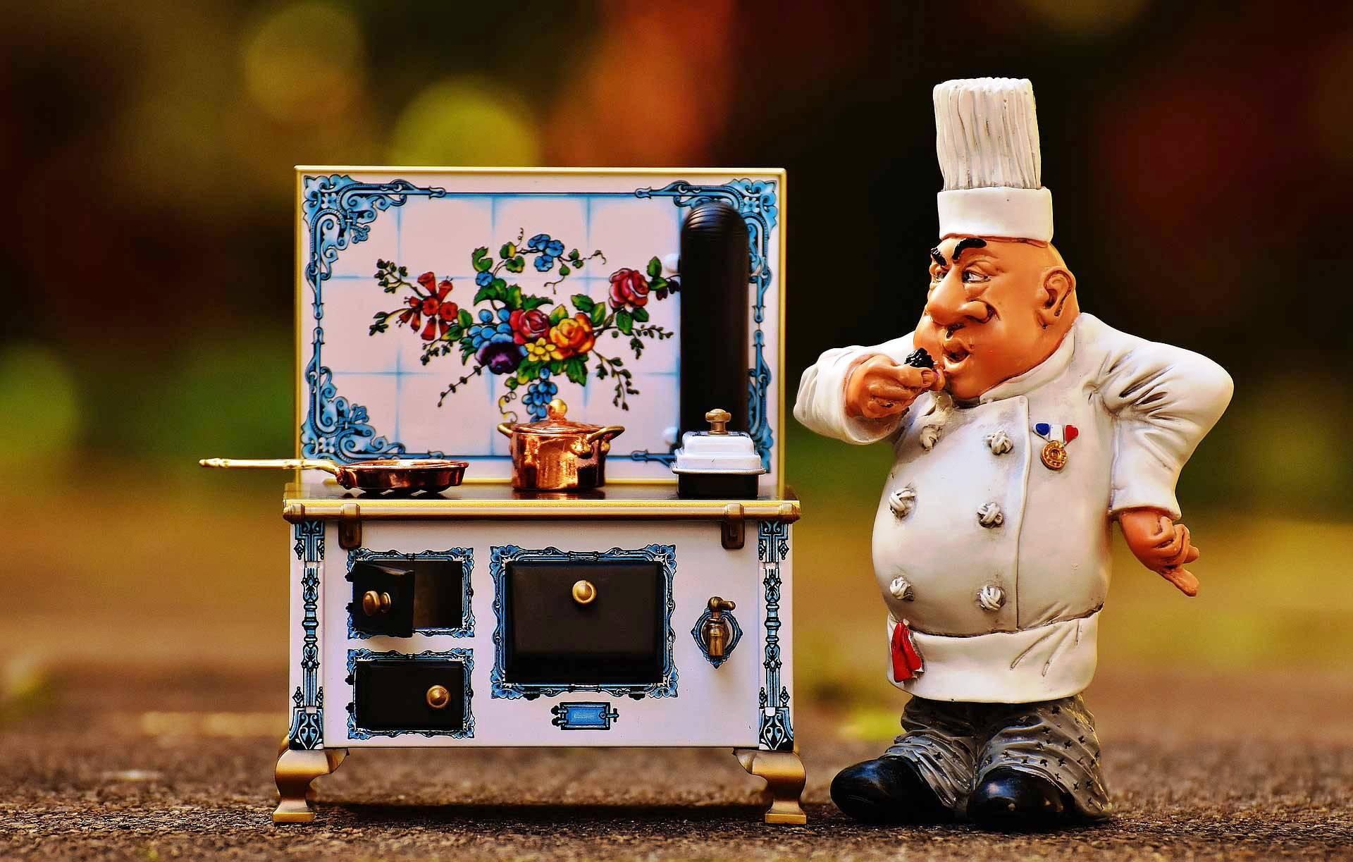 Hobbykoch - Spiezeugkoch mit Herd und Pfannen - Pfannen-Einmaleins