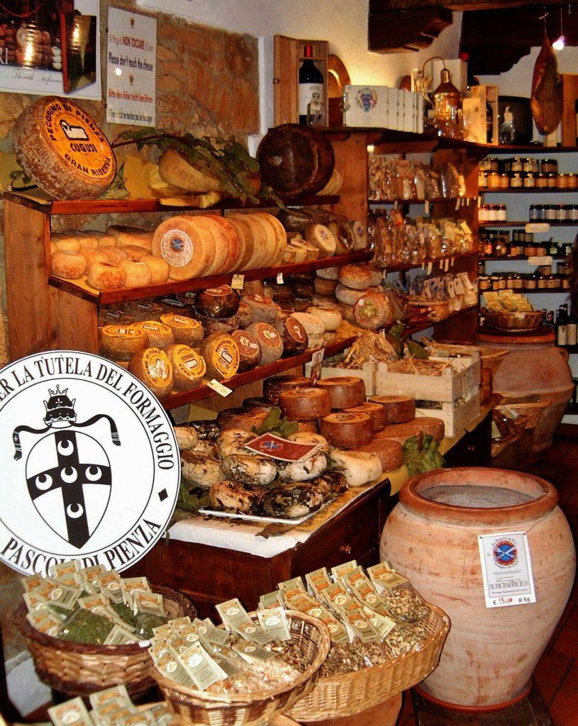 Käsespezialitäten aus Pienza
