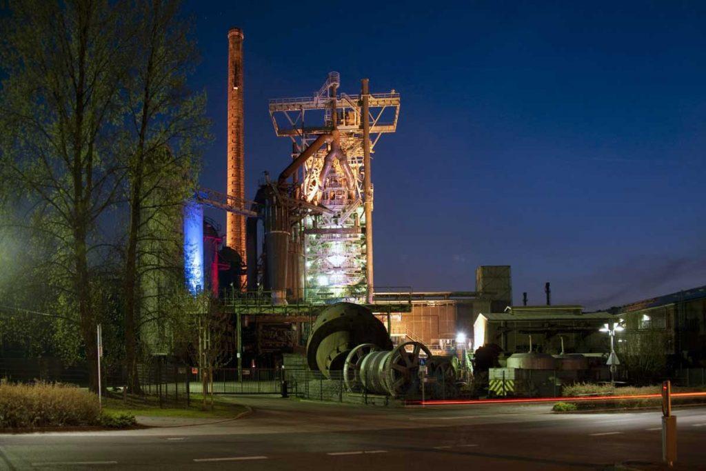 Henrichshütte Hattingen bei Nacht - LWL-Industriemuseum