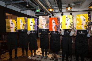painting party bilder teilnehmer
