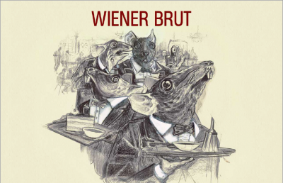 Plakat zum Krimidinner Wiener Brut