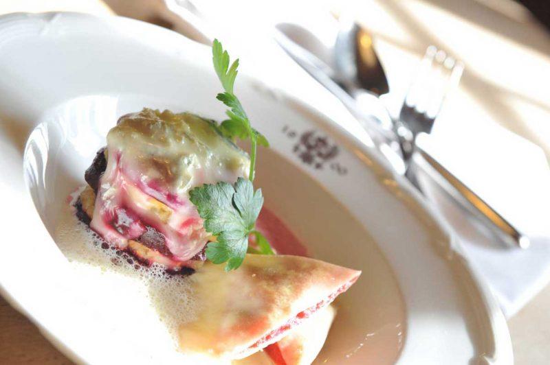 Menü im Restaurant, Bio-Hotel Adler, Vogt