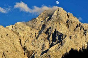 Vollmond-Fondue auf der Zugspitze