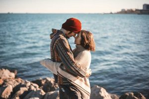 strand paar romantik