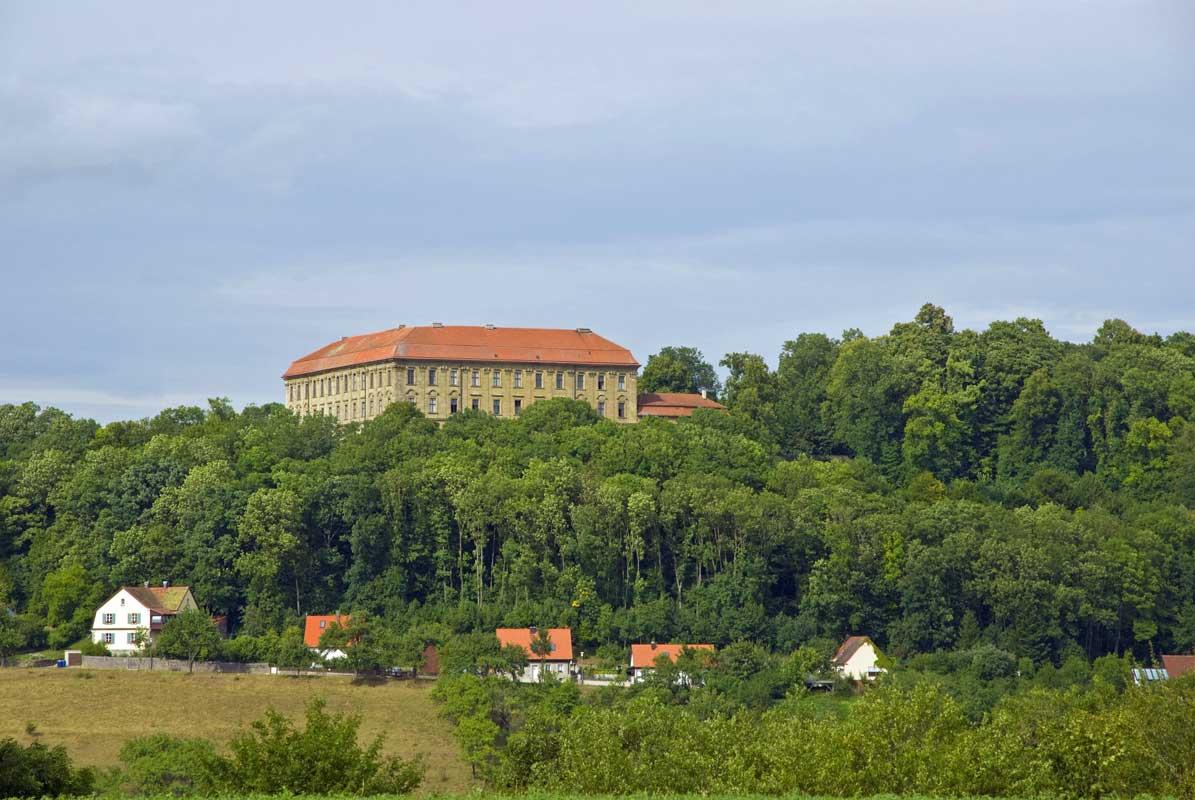 Schloss Schillingsfürst - Europäischer Wasserscheideweg