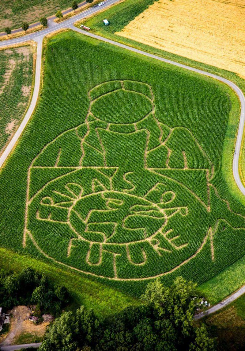 maislabyrinth fridaysforfuture aktuell greta Thunberg