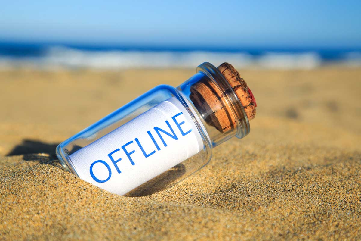 digital detox offline urlaub