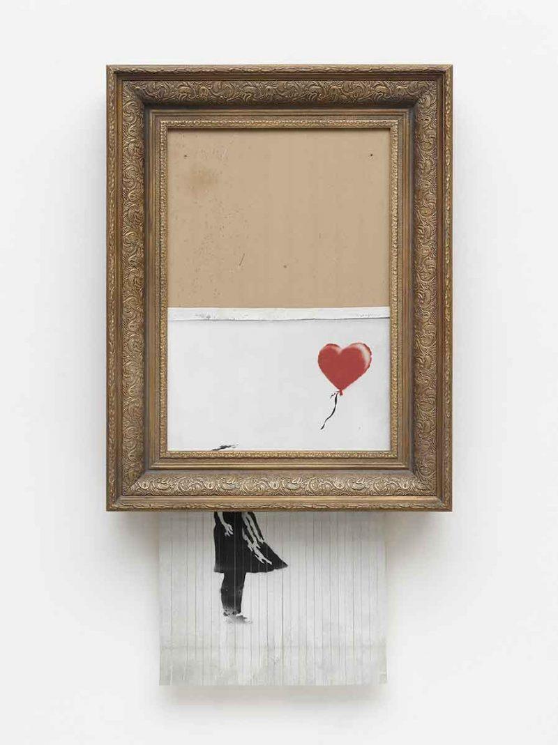 """bansky bild """"love in the bin"""""""
