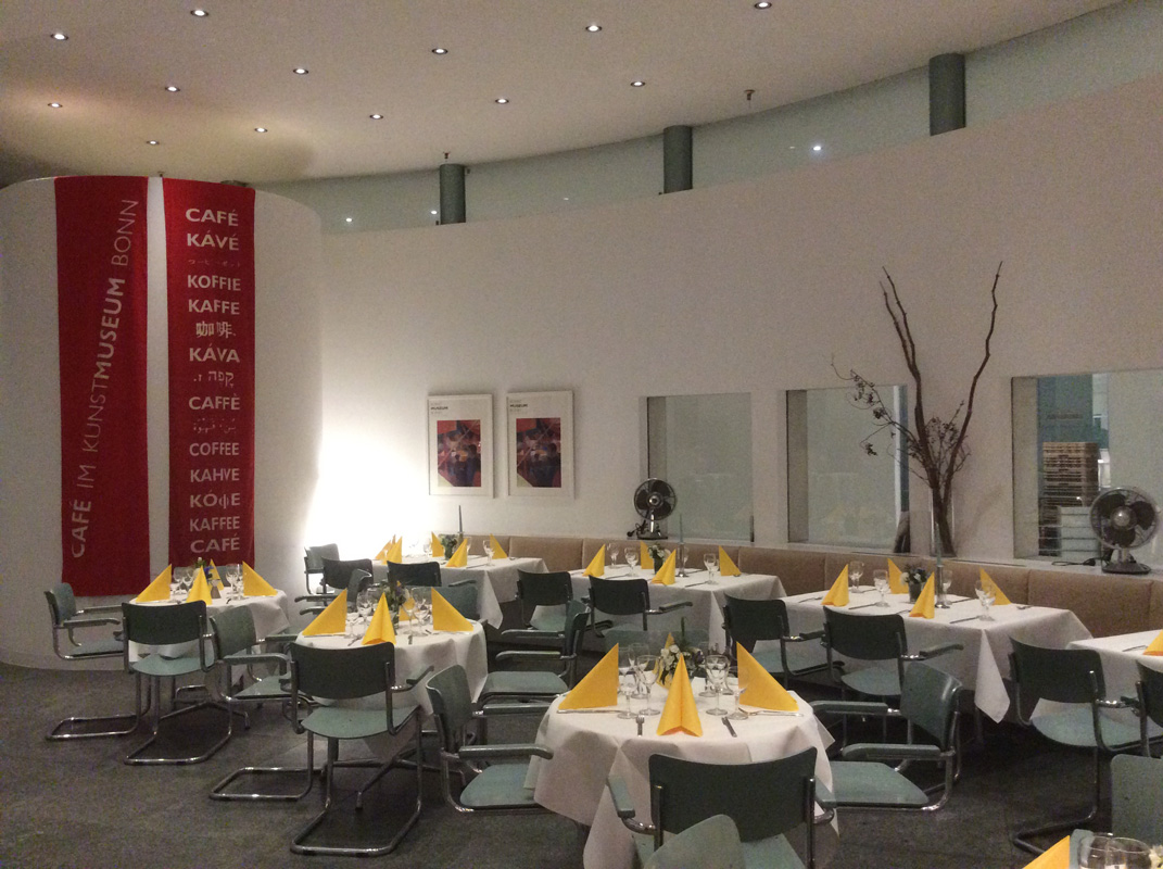 Café im Kunstmuseum Bonn, Innenansicht