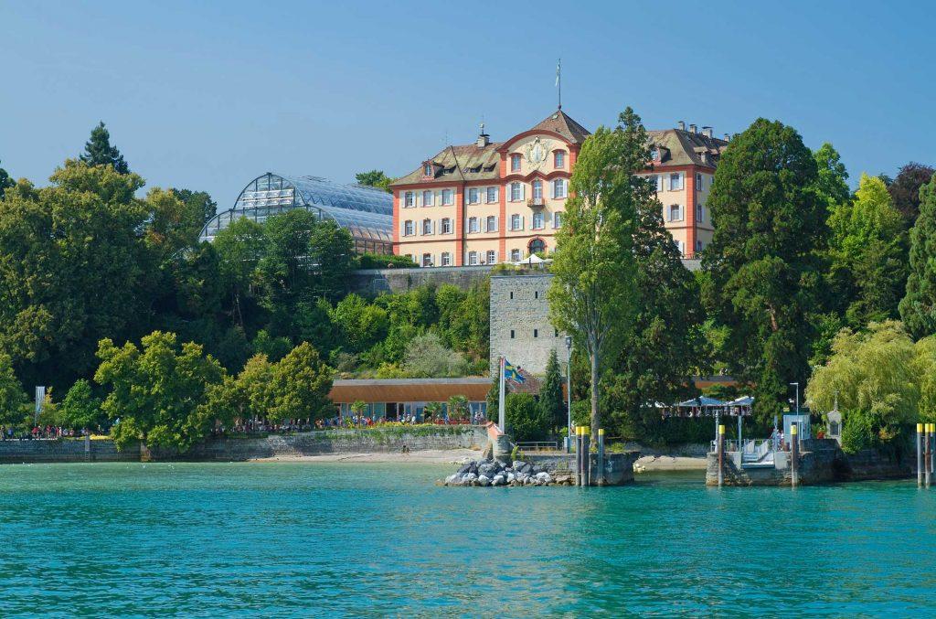 Deutschordenschloss auf der Insel Mainau am Bodensee