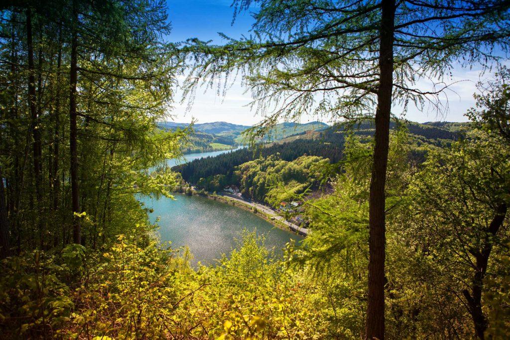 Blick auf den Diemelsee im Sauerland