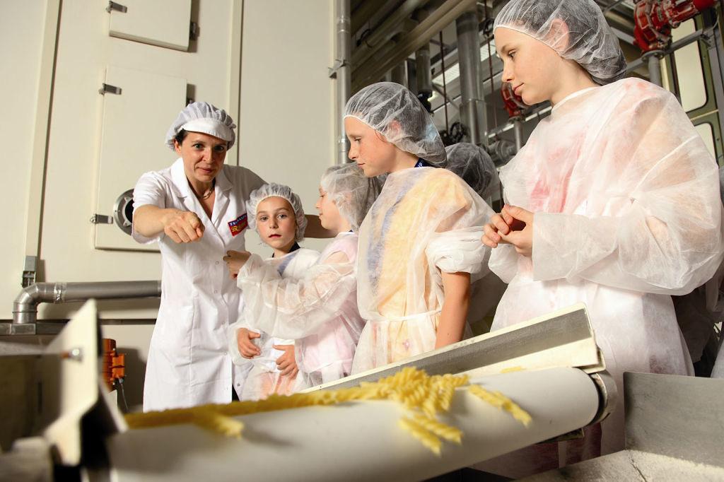 Gläserne Produktion im Nudelcenter Riesa