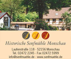 Historische Senfmühle Monschau Banner