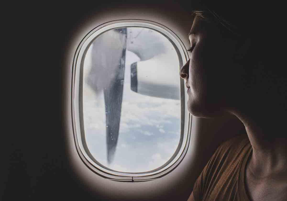 Blick aus dem Flugzeug - Fliegen