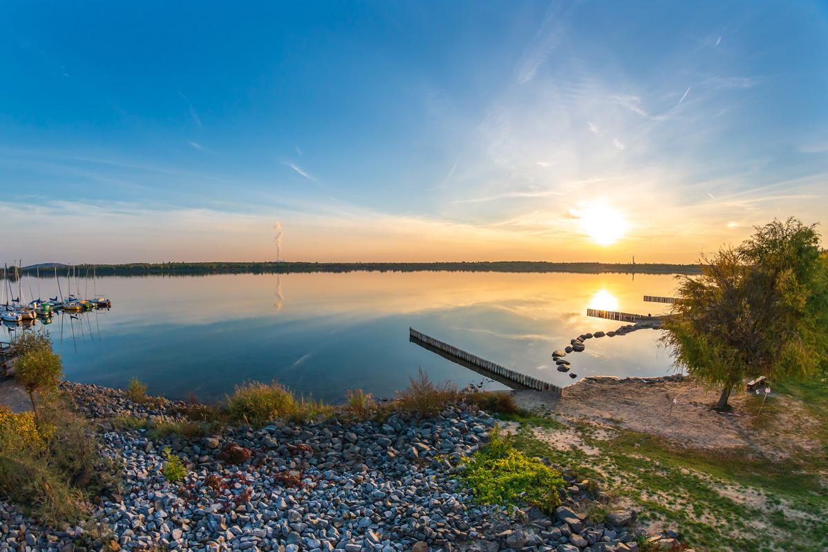 Sonnenuntergang am Markkleeberger See - Leipziger Neuseenland