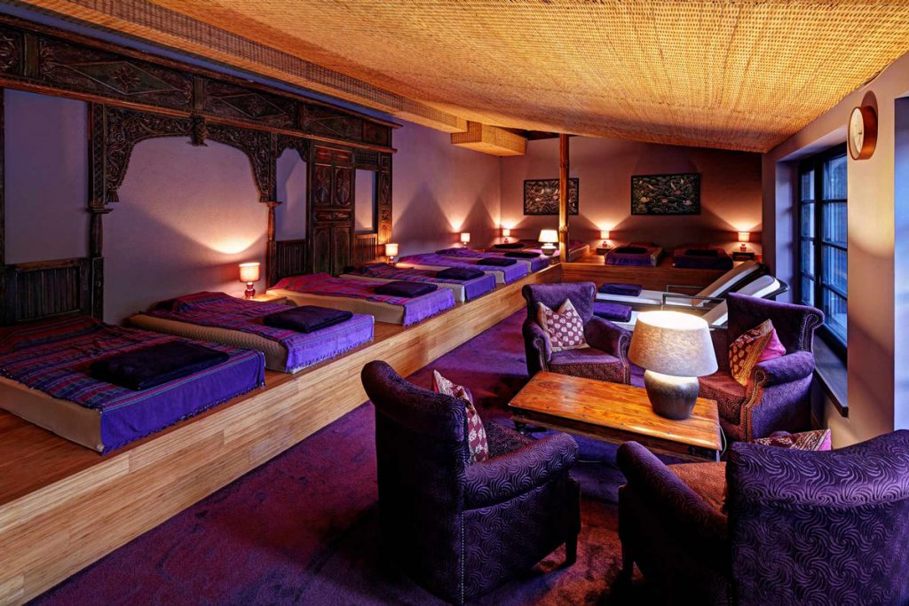 Ruheraum im Vabali Spa Berlin - Die schönsten Sauna- und Wellnesslandschaften