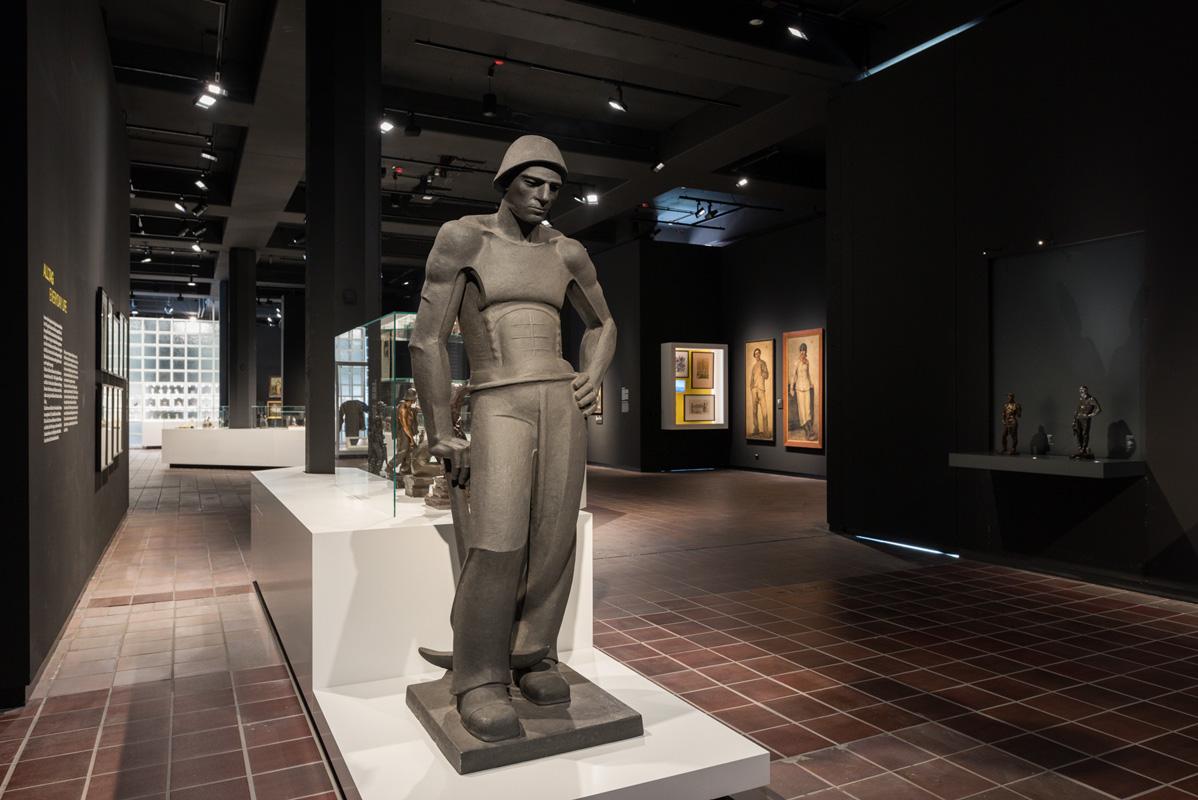 """Blick in den Rundgang """"Kunst"""" der Dauerausstellung des Deutschen Bergbau-Museums Bochum"""