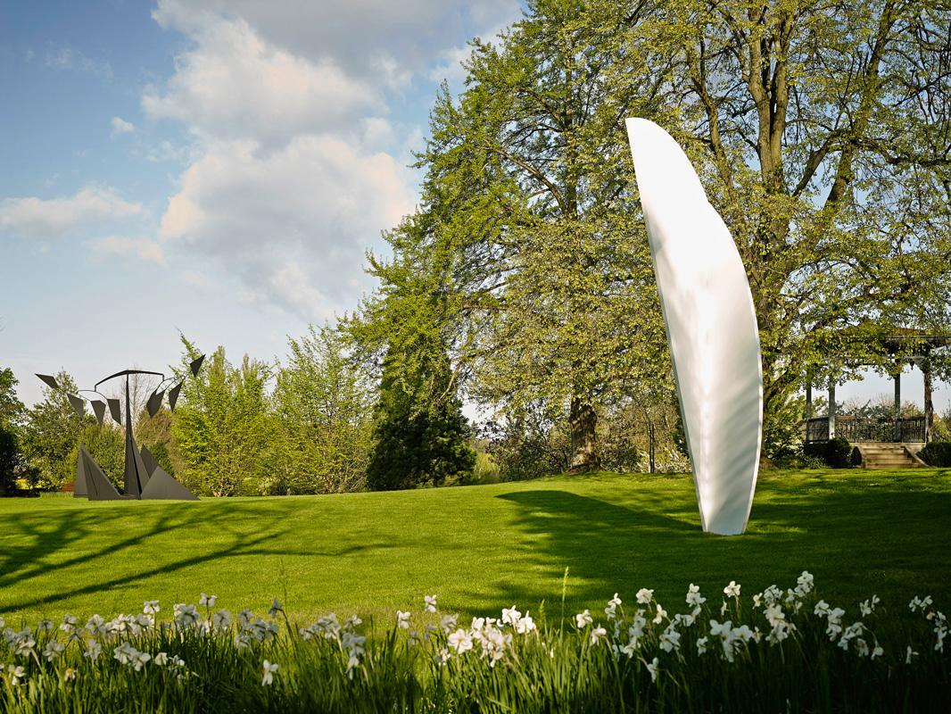Der Park der Fondation Beyeler im Frühling