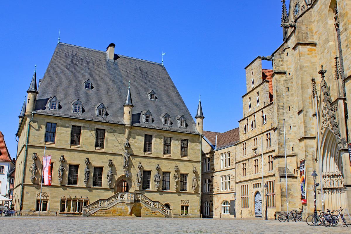 Rathaus Osnabrück - Brückenradweg