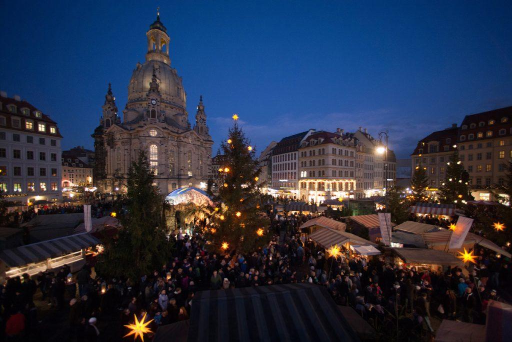 Weihnachtsmarkt Anno 1900 auf dem Neumarkt, Dresden - kuschelige Weihnachtsmärkte