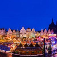 Rostocker Weihnachtsmarkt Panorama