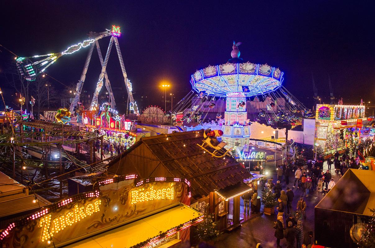 Weihnachtsrummel auf dem Rostocker Weihnachtsmarkt