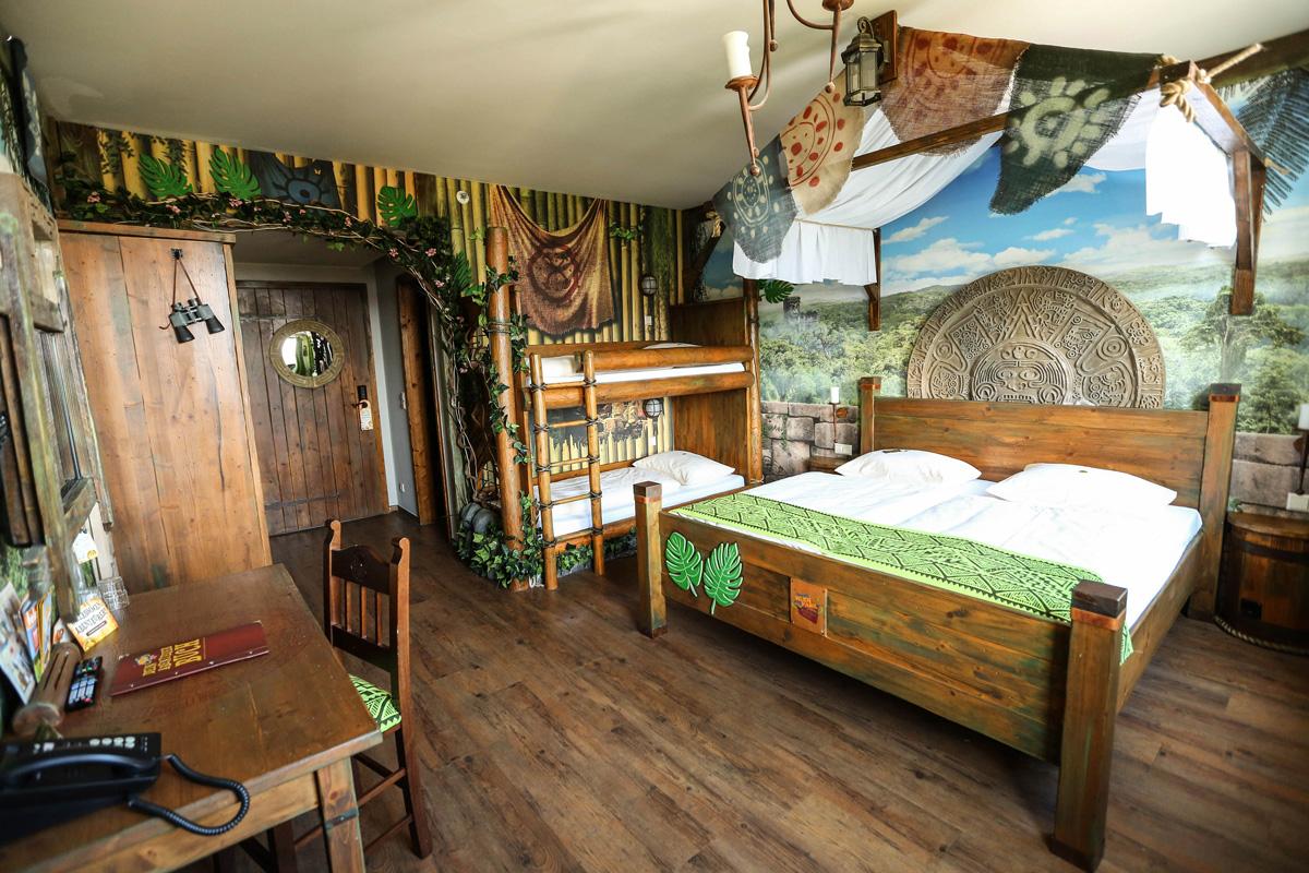 Dschungelzimmer im Abenteuerhotel